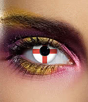 EDIT 90 Day England Flag Contact Lenses (White/Red)
