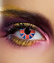 EDIT 90 Day Union Jack Flag Contact Lenses (Red/Blue)