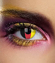 EDIT 90 Day German Flag Contact Lenses (Black/Red/Yellow)