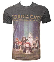 Cosmic Lord Of The Cats T Shirt (Grey)