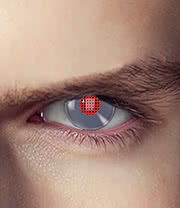 EDIT 1 Year Terminator Android Coloured Contact Lenses (Silver/Red)