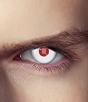 EDIT 1 Year Terminator Humanoid Coloured Contact Lenses (Red/White)