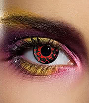 EDIT 90 Day Lava Eye Coloured Contact Lenses (Red/Black)