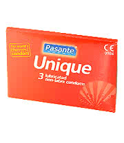 Pasante Unique Non Latex Condoms (Pack Of 3)