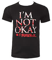 My Chemical Romance I'm Not Okay Splatter T Shirt (Black)