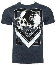 Metal Mulisha Tag Heather T Shirt (Navy)