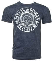 Metal Mulisha Wartalk Heather T Shirt (Navy)