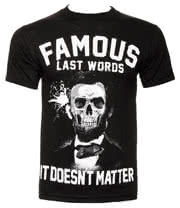 Famous Stars & Straps Last Words T Shirt (Black)