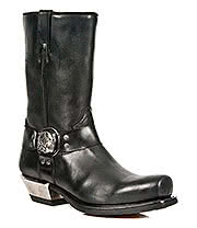 New Rock Boots Biker Pull On Buckle Style M.7965-S1 (Black)