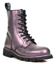 New Rock Boots Lace Up Style M.NEWMILI084-S4 (Metallic Lilac)