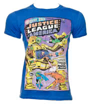 DC Comics The Justice League Of America T Shirt (Blue)