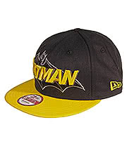 New Era Batman 9FIFTY Snapback Hat (Black/Yellow)