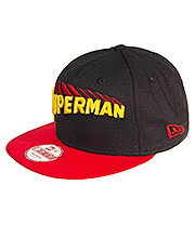 New Era Superman 9FIFTY Snapback Hat (Black/Red)