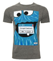 Chunk Clothing Browser Cookies  T Shirt (Grey)