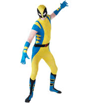 Rubies 2nd Skin Wolverine Costume (Yellow/Blue/Black)