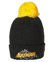DC Comics Batman Bobble Beanie Hat (Black
