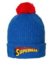DC Comics Superman Bobble Beanie Hat (Blue/Red)