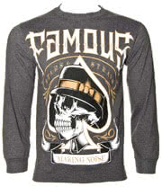 Famous Stars & Straps Spade Tight Long Sleeve T Shirt (Charcoal)
