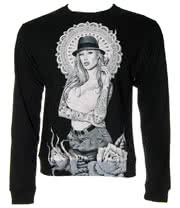 Famous Stars & Straps Chuey Chola Fleece Sweatshirt (Black)