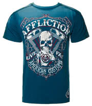 Affliction American Custom Death Eater T Shirt (Blue)