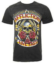 Affliction American Custom Hollow Point T Shirt (Charcoal)