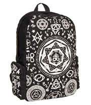 Banned Pentagram Hood Backpack (Black)