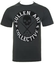 Sullen All Day Badge T Shirt (Charcoal)