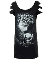Sullen Angels Diamond Dust Skinny T Shirt (Black)