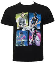 5 Seconds Of Summer Live In Colours T Shirt (Black)