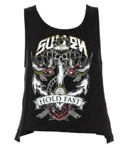 Sullen Angels Hold Fast Anchor High/Low Vest (Black)