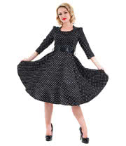 H&R Polka Dot Dress (Black/White)