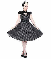 H&R Polka Dot Collar Dress (Black/White)