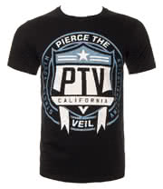 Pierce The Veil Shield T Shirt (Black)