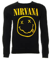 Nirvana Smiley Sweatshirt (Black)