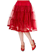 Banned Mid Petticoat (Burgundy)