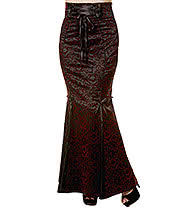 Banned Ivy Cross Maxi Skirt (Burgundy)