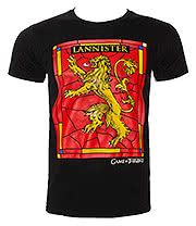 Game Of Thrones House Lannister T Shirt (Black)
