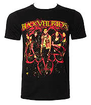 Black Veil Brides Fire T Shirt (Black)