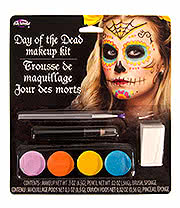Day Of The Dead Make Up Kit (Multi Coloured)