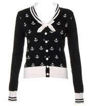 Banned Sailor Cardigan (Black/White)