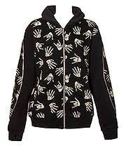 Banned Glow In The Dark Skelly Hand Hoodie (Black)