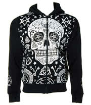 Banned Black Magic Skull Hoodie (Black)