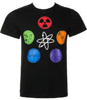 The Big Bang Theory Geek Symbol T Shirt (Black)