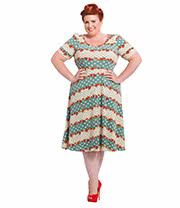 Voodoo Vixen Faith Plus Size Dress (Multi Coloured)