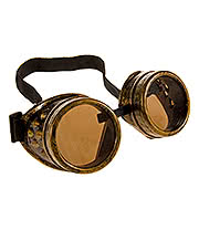 Golden Steampunk Brass Goggles