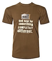 Monty Python Something Completely Different T Shirt (Brown)