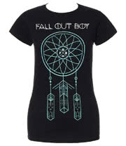 Fall Out Boy Dreamcatcher Skinny T Shirt (Black)