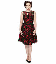 Voodoo Vixen Viola Dress (Black/Red)