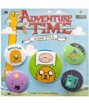 Adventure Time Bro Hug Badge Pack