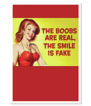 Real Boobs Novelty Card (12.5 x 17.5)
